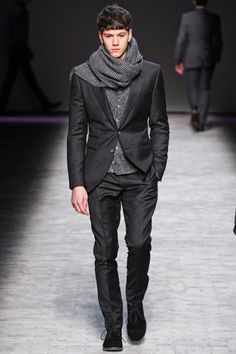 Joseph Abboud Fall'12 - Like the suit, scarf maybe a bit too much for the suit.