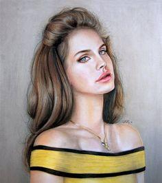 Lana del rey fan art, beautiful!