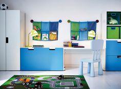 IKEA Toy Storage for Kids Room — Luxury Comforter Bedspread Ikea Toy Storage, Bench With Storage, Storage Benches, Playroom Storage, Storage Hooks, Wall Storage, Ikea Childrens Bedroom, Kids Bedroom, Ikea Deco