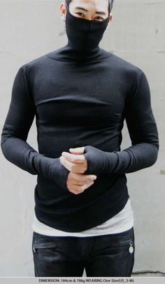 Face-Obscuring Sweaters - The Ninja Turtle-Neck Mask Armwarmer Tee is a Fashionable Disguise