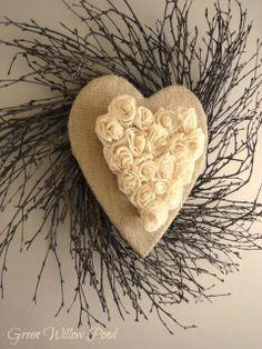 Tutorial for Rustic Valentine Wreath