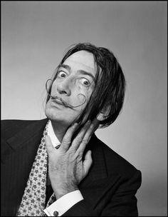 SALVADOR DALI.....1954.........PHOTO BY PHILIPPE HALSMAN................ON MAGNUM PHOTOS.....