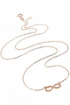 rose gold #infinity necklace with #diamonds I designed I NEW ONE infinity collection I NEWONE-SHOP.COM