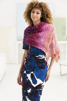 Feather And Fan Shawl (Knit)