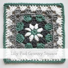 Lily Pad Granny Square   Free pattern + tutorial More