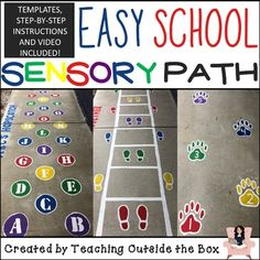 Make a huge impact on your school with this sensory path resource! Design and paint this easy and inexpensive sensory path with no artistic skills needed! Sensory Balloons, Sensory Wall, Sensory Rooms, Sensory Activities, Sensory Tubs, Physical Education, Special Education, Health Education, Mental Health