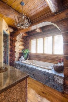 Just a little bath time at the cabin!