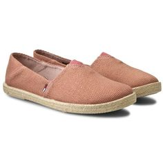 Espadryle TOMMY HILFIGER - DENIM Sari 2E EN56821153 Dusty Rose Gold 669