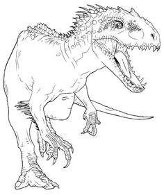 Indominus Rex Coloring Page Dinosaur Coloring Pages, Halloween Coloring Pages, Coloring Pages For Boys, Free Coloring Pages, Coloring Books, Kids Colouring, Dinosaur Crafts, Dinosaur Art, Paper Plate Animals