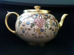 RARE VINTAGE Gibsons Teapot Pink Gold Floral by BungalowHeritage, $35.00