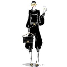 Coffee and Chanel Megan Hess Illustration, Kerrie Hess, Zoom Call, Black Artwork, Fashion Sketches, Fashion Illustrations, Fashion Art, Fashion Design, International Fashion