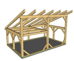 Barn Plans - Timber Frame HQ : This x T-Rex shed roof post and beam is suitable for many uses, and a cinch to build. Use it as a small guest cabin with sleeping loft, a barn or workshop, or an artist's getaway! Cabin Loft, Tiny House Cabin, Tiny Cabins, Shed With Loft, Shed Design Plans, Simple Shed, Barns Sheds, Pole Barns, Shed Roof