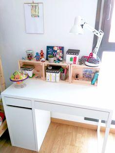 Ideas para decorar escritorio infantil - Organizar y decorar el escritorio de los niños - Escritorios infantiles | ideas para escritorios | Escritorios infantiles kids | Desk inspiration | escritorios IKEA | Escritorio Micke | Kids rooms | Desk organisation