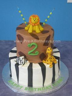 Zoo Party Cake at Pre K Birthdays Charlotte / Lake Norman