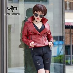 women's leather jacket 2017 New Design Faux Leather Coat Women Soft PU Basic Outwear Bomber Jacket Punk Style Jackets with Belt *** AliExpress Affiliate's buyable pin. Locate the offer on www.aliexpress.com simply by clicking the VISIT button