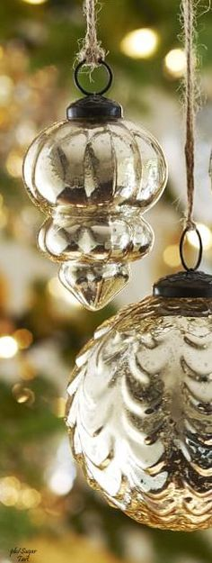 ➶ ➶ The Joy of Christmas   {Noel}  ➶ ➶   Poppy Pea | Vintage mercury glass Christmas ornaments
