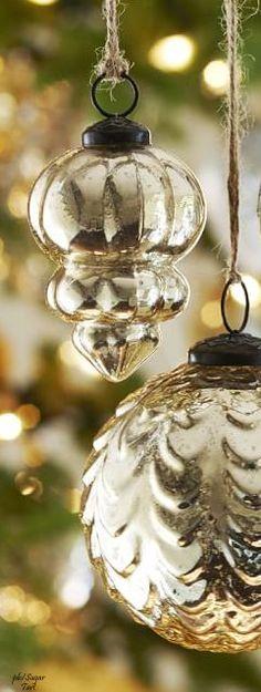 ➶ ➶ The Joy of Christmas   {Noel}  ➶ ➶   Poppy Pea | Vintage mercury glass Christmas ornaments