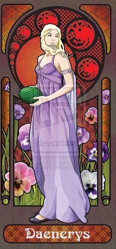 Daenerys by ~tfilipova on deviantART  More @ http://groups.google.com/group/FantasyMagie & http://groups.yahoo.com/group/fantasy_forum   Like us pls! http://www.facebook.com/ComicsFantasy & http://www.facebook.com/groups/ArtandStuff