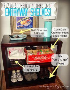 Thrifty Thursday: $12 Bookshelf TWO Ways   Thrift Store Finds!