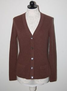 Vince 100% Cashmere Long Purple Cardigan Sweater w/ Collar ...