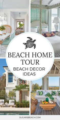 Join us today for coastal decorating ideas as we tour this wonderful Sullivan Island beach house tour found in Sullivan's Island, SC. Beach Cottage Style, Beach Cottage Decor, Coastal Cottage, Coastal Living, Coastal Decor, Coastal Style, Beach House Tour, Shabby Chic Pink, Sullivans Island Beach