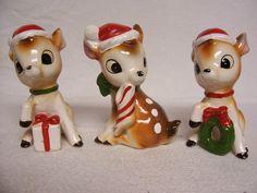 Josef Originals Deer Figurine Trio Vintage by FabVintageEstates, $75.00