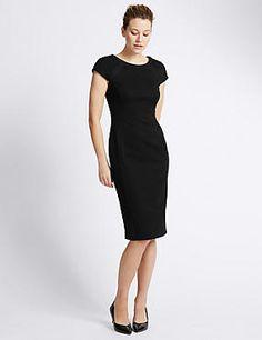 Textured Utility Bodycon Dress
