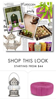 """""""Moroccan Tea Party"""" by sans-moderation ❤ liked on Polyvore featuring interior, interiors, interior design, home, home decor, interior decorating, Cultural Intrigue and Jonathan Adler"""