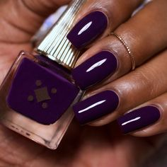Make an original manicure for Valentine's Day - My Nails Dark Skin Nail Polish, Dark Nails, Purple Nails, Love Nails, Pretty Nails, My Nails, Dream Nails, Toe Nail Color, Nail Polish Colors