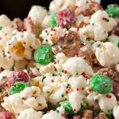 Christmas Crunch {Funfetti Popcorn} Steve loves!