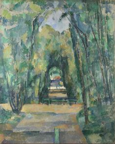 Paul Cezanne Avenue At Chantilly 1888 Poster  Be Sure To Visit:  http://universalthroughput.imobileappsys.com/
