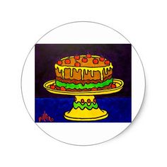 Have Your Cake by Piliero Classic Round Sticker Wine Birthday, Birthday Parties, Round Stickers, Deserts, Logos, Classic, Cake, Party, Anniversary Parties