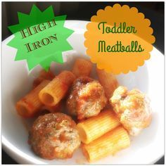High Iron Toddler Meatballs | Add spinach, lentils, green beans and wheat germ or iron fortified baby rice/oats