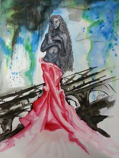 Técnica Mista #watercolor #DRAWNING