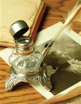 INK WELL AND QUILL PEN, BEFORE THE DAYS OF E-MAIL