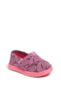 TOMS 'Classic Tiny - Paisley' Slip-On (Baby, Walker Toddler) available at size 8 Baby Toms, Valentines Day Baby, Walker Shoes, Toms Classic, Crib Shoes, Baby Girl Shoes, Future Baby, Kids Fashion, Fashion Outfits