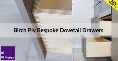 Birch Ply Bespoke Kitchen Drawers - Probox Drawers (@ProboxDrawers) | Twitter Birch Ply, Dovetail Drawers, Bespoke Kitchens, Kitchen Drawers, Solid Oak, Tile Floor, Twitter, Furniture, Design