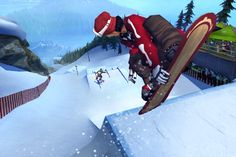 Present - This is an image from Shaun white snowboarding, unlike the SSX franchise this focuses more on the realistic aspects of snowboarding. Similar to that of Tony hawks (Teamteabag, 2009)