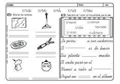 Fichas infantiles para aprender a leer y aprender a escribir con la letra C. Dibujos Lectoescritura con letra C para colorear. Lectoescritura_CyQ_9