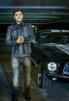 Zac Efron and that car....