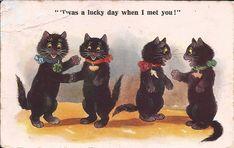 Black cats are lucky! Inter-Art postcard Coll clarissa