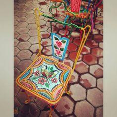 Pakistani Truck Art on chair, Pakistan