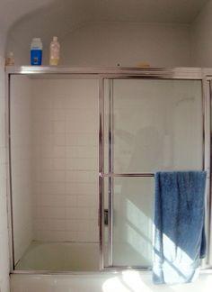 7 replacing shower door with curtain