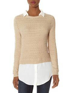 Cropped Collared Sweater