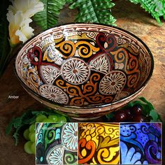 Moroccan pottery dates back over one thousand years. This bowl was made using centuries old techniques. Created by master artisans of Safi, Morocco. Each piece is signed by the artisan making it a unique work of art.