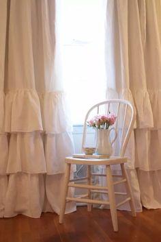 Shabby Chic Bedroom Curtains   Window, Bedroom ideas and Shabby ...