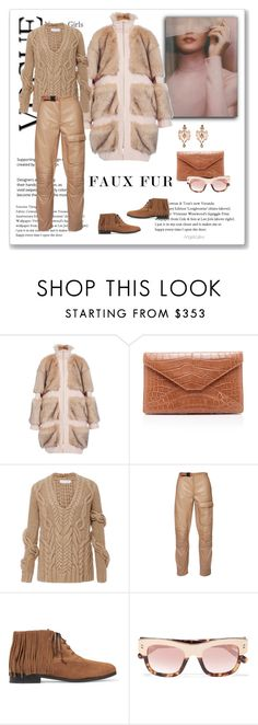 """Faux Fur"" by angelicallxx ❤ liked on Polyvore featuring Christian Siriano, Nellie Partow, Diego Percossi Papi, Etro, NewbarK, STELLA McCARTNEY and fauxfurcoats"