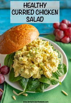 Healthy curry chicken salad – Family Food on the Table Healthy curry chicken salad is perfectly creamy with just the right level of spice and sweetness. Serve as a sandwich, wrap, salad or with crackers for a delicious, healthy lunch! Best Chicken Recipes, Soup Recipes, Salad Recipes, Vegetarian Recipes, Healthy Recipes, Sandwich Recipes, Healthy Salads, Healthy Chicken, Turkey Recipes