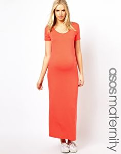 ASOS Maternity Maxi Dress with T-Shirt Sleeve