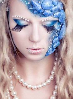 Mermaid makeup it looks just as if a real mermaid that changed into a human did it looks so pretty! Description from pinterest.com. I searched for this on bing.com/images